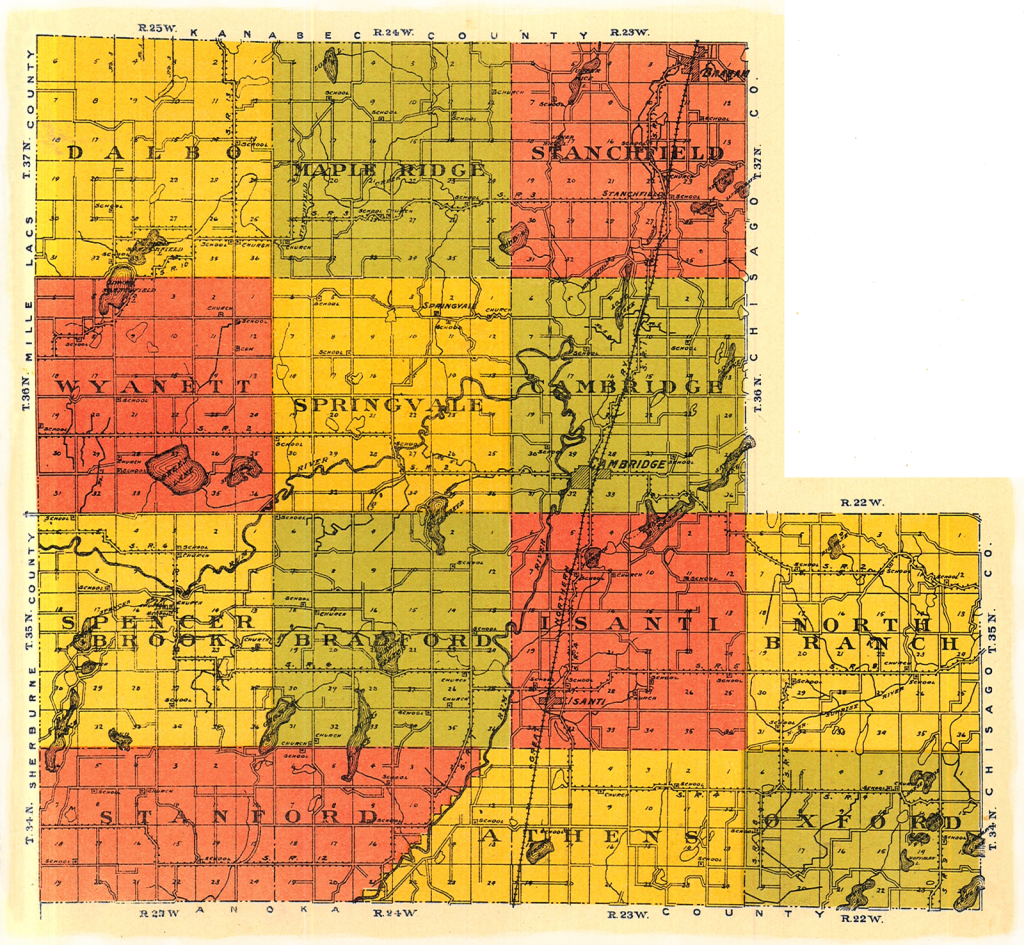 Plat Map Isanti County, MN